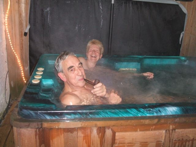 Hot wife naked in the hot tub #14