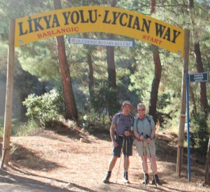 Geoff & Sally start of Lycian Way