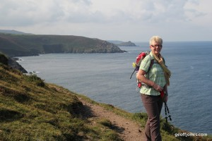 Sally on South West Coastpath